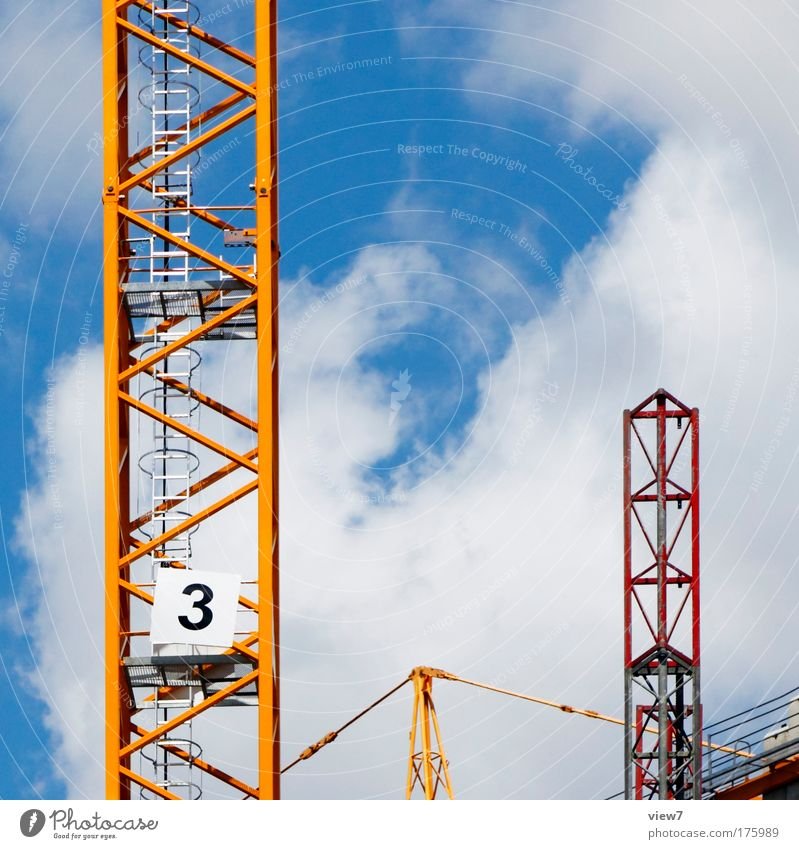 Sky Red Clouds Yellow Above Metal Free Large Transport New Future Construction site Good Logistics Target Digits and numbers