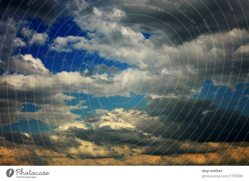 Nature Sky White Blue Summer Clouds Yellow Landscape Air Wind Threat Thunder and lightning Storm Elements Climate change Bad weather