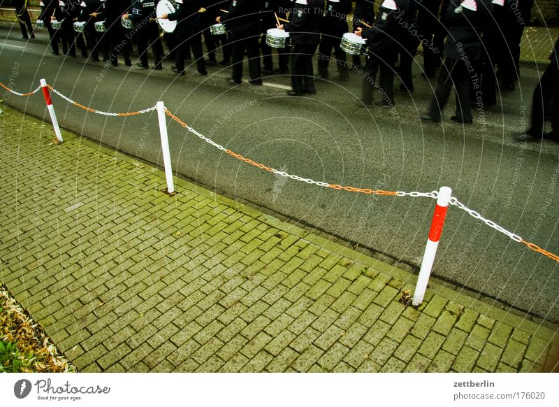 Music Feasts & Celebrations Village Moving (to change residence) Sidewalk Opinion Chain Barrier Tradition Drum Copy Space Uniform March Ceremony Drummer Parade