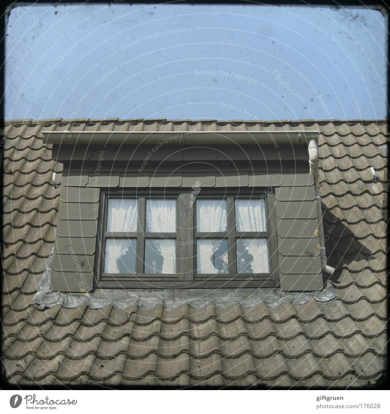 House (Residential Structure) Window Architecture Building Germany Roof Manmade structures Idyll Village Vantage point Drape Cozy Old fashioned Eaves