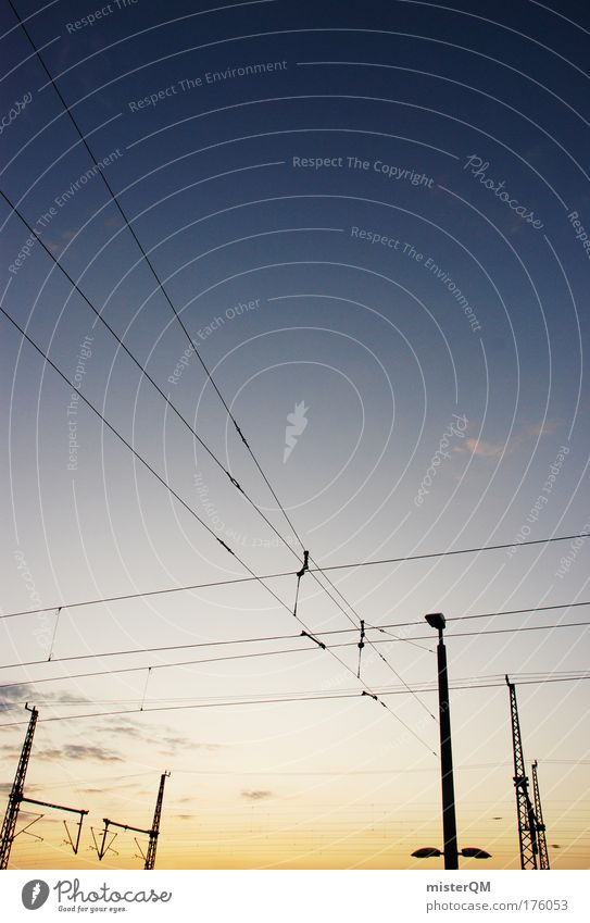 Human being Sky Line Arrangement Transport Energy Electricity Telecommunications Logistics Cable Network End Economy Connection Society