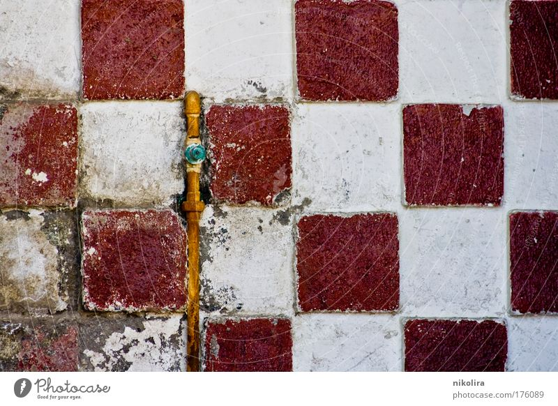 Wall Colour photo Detail Pattern Structures and shapes Deserted Day Central perspective Wall (barrier) Wall (building) Decoration Concrete Brick Old Near Yellow