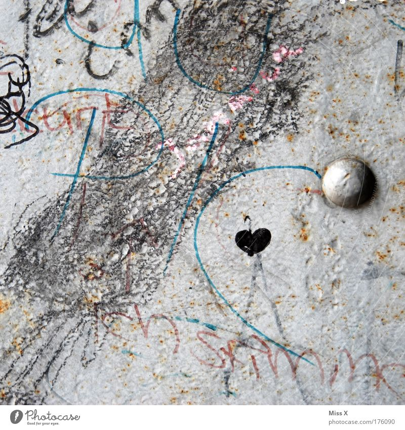Heart in Chaos House (Residential Structure) Wall (barrier) Wall (building) Sign Characters Ornament Graffiti Draw Dirty Kitsch Rebellious Love Infatuation