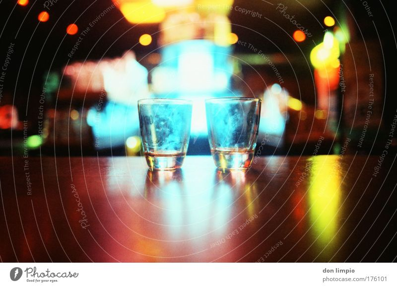Glass Beverage Alcoholic drinks Drinking Bar Gastronomy Analog Light Tequila Multicoloured Cheap Alcoholism Friendship Closing time Hospitality