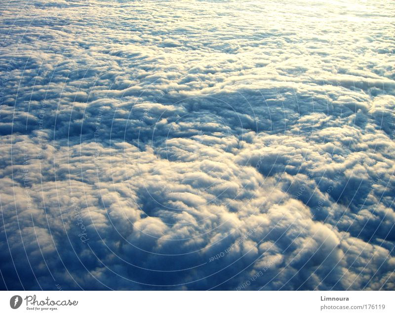 Sky Blue White Clouds Far-off places Environment Dark Landscape Autumn Sadness Air Moody Rain Weather Climate Aviation