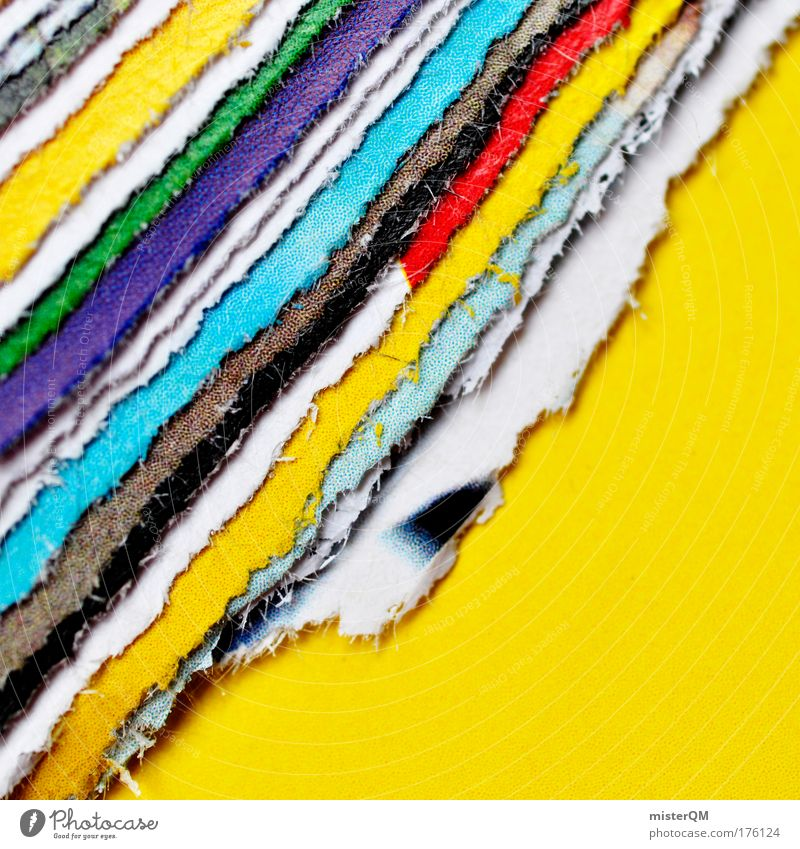 Colour Pattern Abstract Design Crazy Detail Close-up Paper Modern Esthetic Macro (Extreme close-up) Level Workshop Uniqueness Trashy Multicoloured