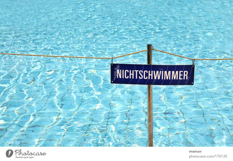 non-swimmer Colour photo Detail Pattern Structures and shapes Copy Space left Copy Space top Copy Space bottom Neutral Background Day Contrast Reflection
