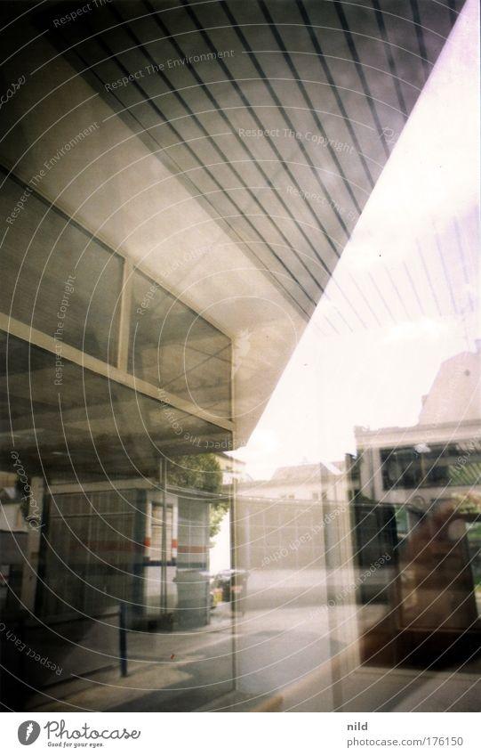 City Gray Brown Munich Workshop Muddled Vacancy Shop window Petrol station