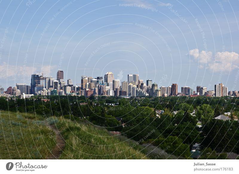 skyline Colour photo Exterior shot Environment Nature Landscape Sky Clouds Skyline Calgary Calgary Tower Canada High-rise Town