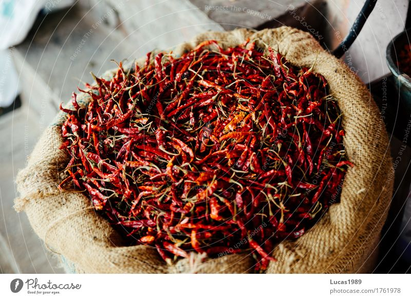 hot chilli Food Herbs and spices Nutrition Eating Asian Food Chili Tangy Sense of taste Hot India Sack Dry Red Dried Pain Shopping Wholesale trade Many