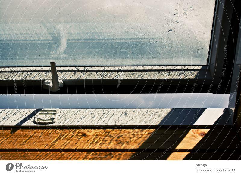 Sun Window Sadness Air Rain Weather Climate Fresh Drops of water Longing Boredom Window pane Wanderlust Converse Attic Undo
