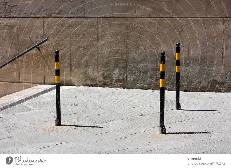 City Street Wall (building) Wall (barrier) Bright Facade Stairs Barrier Banister Tuscany Boundary Bollard Siena