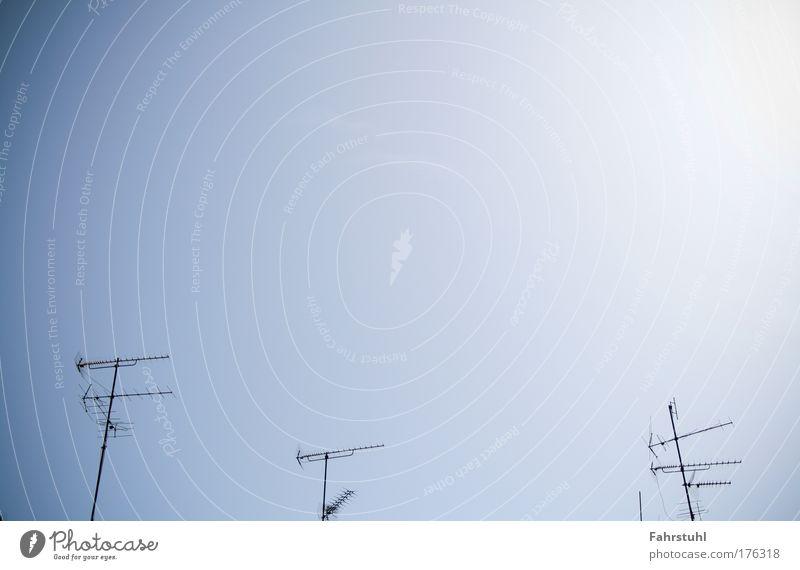 Sky Blue Television Telecommunications Antenna Symmetry