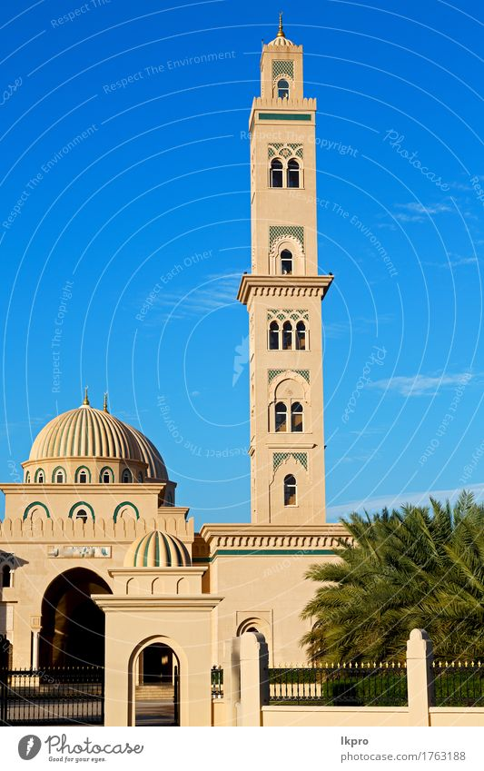 minaret and religion in clear sky in Sky Vacation & Travel Old Blue Beautiful White Black Architecture Religion and faith Building Art Gray Tourism Design