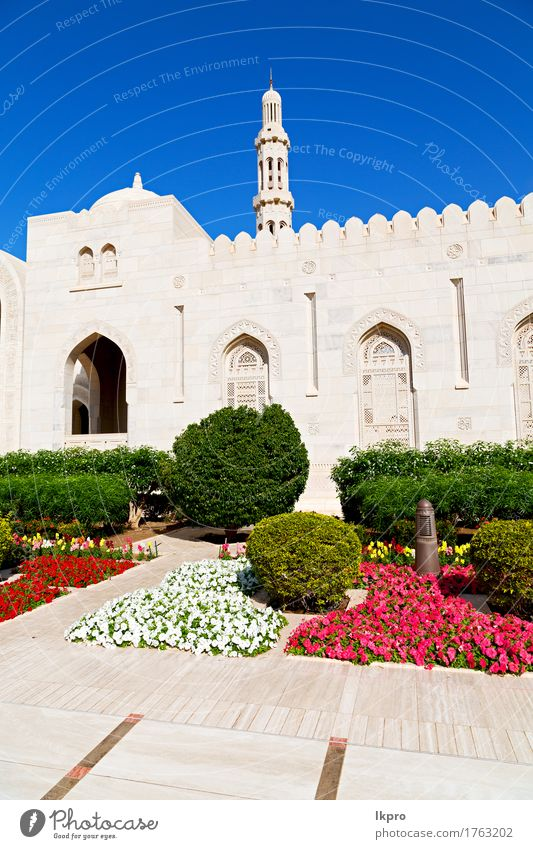 clear sky in oman muscat the old mosque Design Vacation & Travel Garden Art Plant Sky Tree Flower Church Building Architecture Monument Old Historic Blue Gray