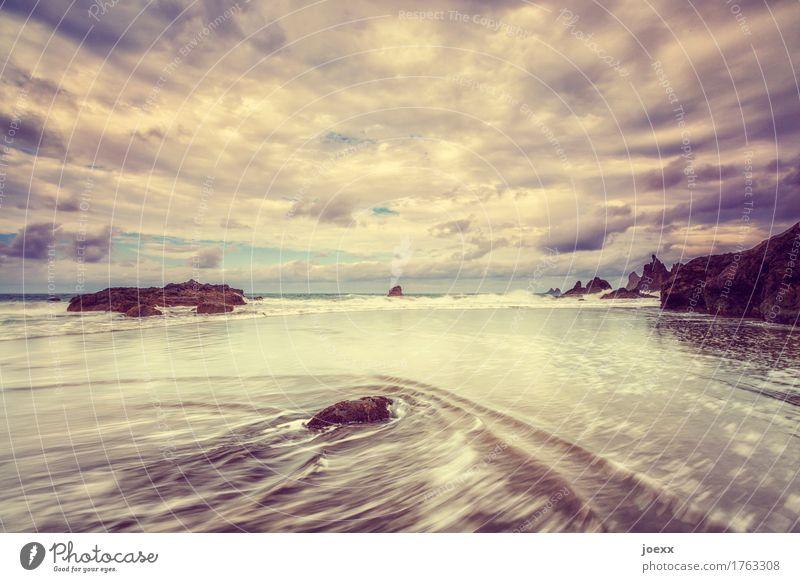 Sky Vacation & Travel Summer Beautiful Water Ocean Clouds Beach Coast Rock Wild Horizon Waves Island