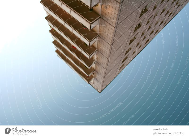 Sky Blue Loneliness Architecture Building Moody Elegant Modern Exceptional High-rise Might Uniqueness Balcony Geometry Endurance Gigantic