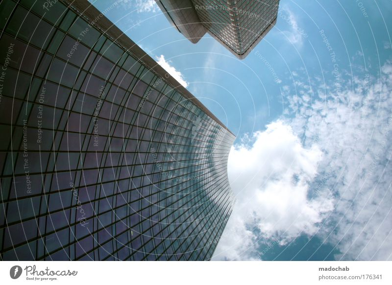 Blue City Clouds Business Power Architecture Success Perspective Growth Change Stress Frankfurt Testing & Control Aggression