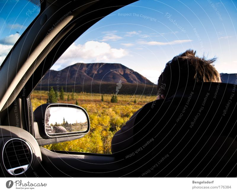 Human being Nature Vacation & Travel Clouds Far-off places Mountain Freedom Sadness Car Landscape Hiking Trip Adventure Tourism Wanderlust