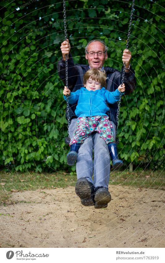 Human being Child Nature Man Old Joy Adults Environment Senior citizen Boy (child) Small Happy Garden Together Friendship Masculine