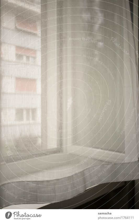 From the window Living or residing Flat (apartment) Window Soft Drape White Light Flare Shaft of light Vantage point Bedroom Living room Homey Cozy soft light