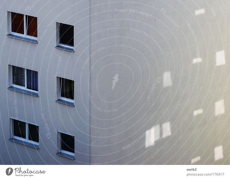 City House (Residential Structure) Wall (building) Window Architecture Wall (barrier) Building Facade Design Arrangement Perspective Simple Manmade structures
