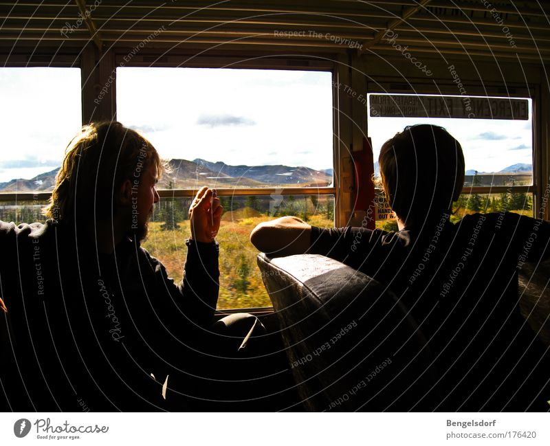 Wilderness behind glass - Alaska Vacation & Travel Tourism Trip Adventure Far-off places Freedom Safari Expedition Summer vacation Mountain Hiking 2 Human being
