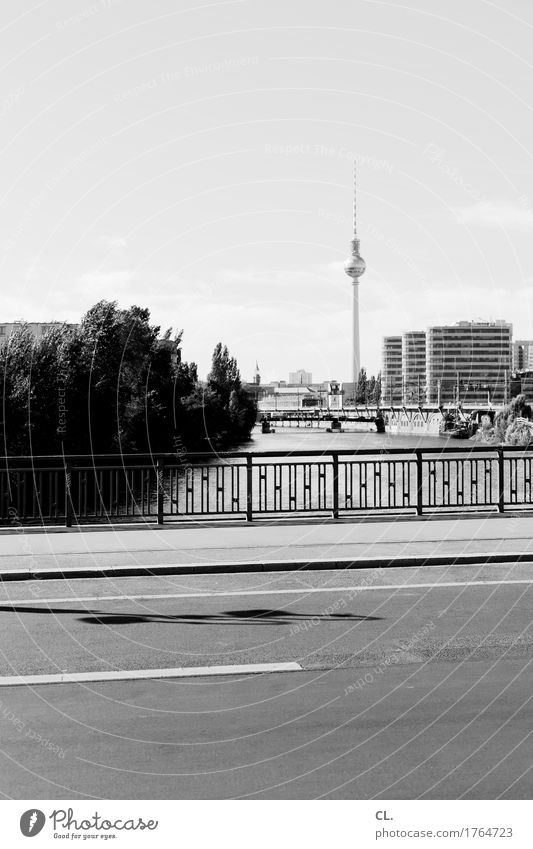 Sky Vacation & Travel City Street Lanes & trails Berlin Building Tourism Transport Trip High-rise Beautiful weather Bridge River Manmade structures