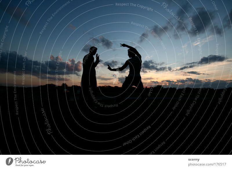 Human being Sky Blue Joy Clouds Black Adults Yellow Life Friendship Horizon Power Gold Masculine Adventure Esthetic