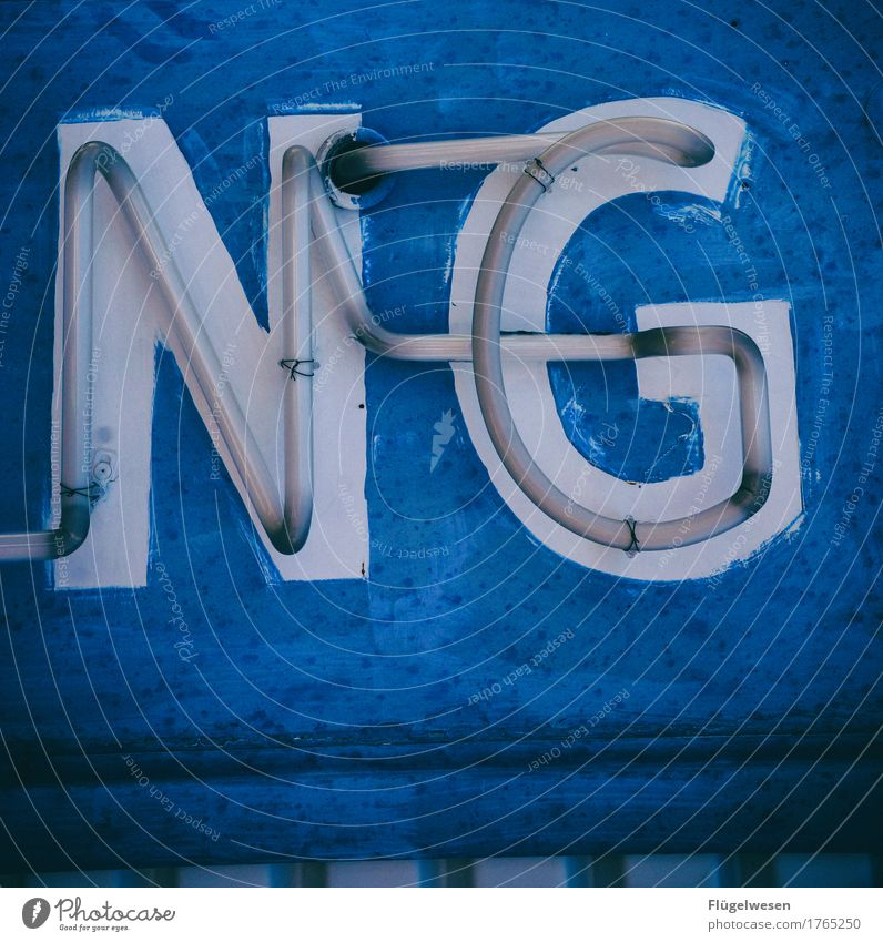 NG Lamp Advertising Industry Characters Old Lighting Illuminate Colour Dye Neon light Neon sign Letters (alphabet) Illuminated letter Billboard Advertise