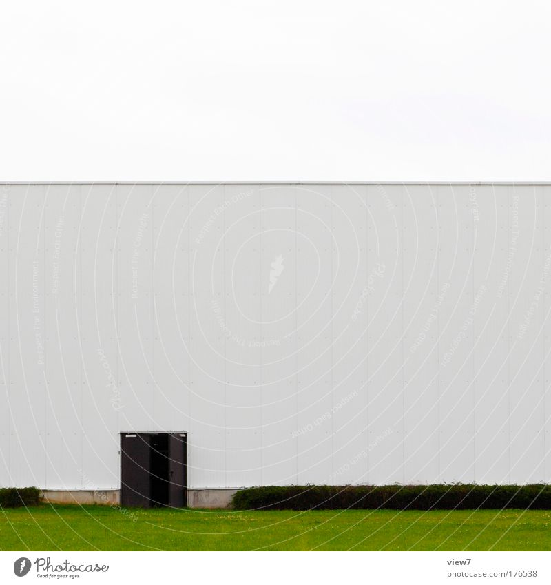 back door Colour photo Exterior shot Deserted Copy Space top Copy Space middle Day Deep depth of field Workplace Factory Trade Logistics Grass Industrial plant