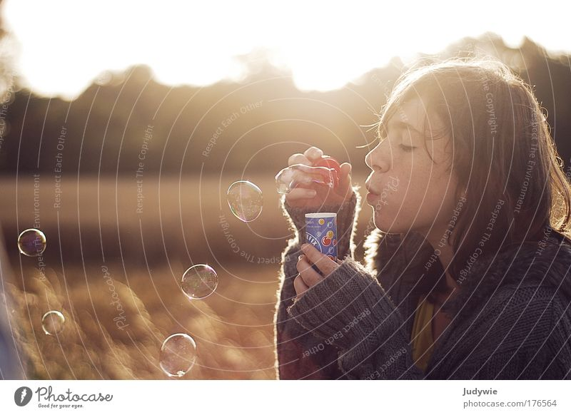 Human being Child Nature Youth (Young adults) Girl Beautiful Summer Life Autumn Feminine Playing Happy Dream Landscape Moody