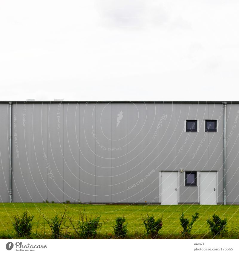 doubles Colour photo Exterior shot Deserted Day Deep depth of field Workplace Factory Industry Trade Logistics Nature Sky Grass Bushes