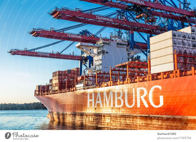 City Business Tourism Work and employment Transport Hamburg Logistics Harbour Tourist Attraction Economy Navigation Traffic infrastructure Container Port City