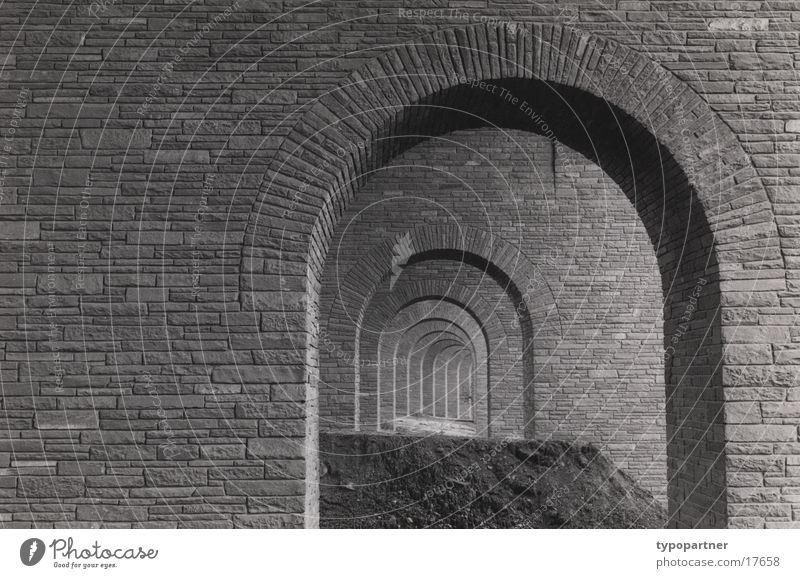 under the motorway Wall (barrier) Historic Arch Deep Architecture