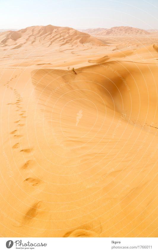 outdoor sand dune in oman old desert rub al khali Sky Nature Vacation & Travel Summer Beautiful White Sun Landscape Loneliness Black Yellow Gray Sand Tourism
