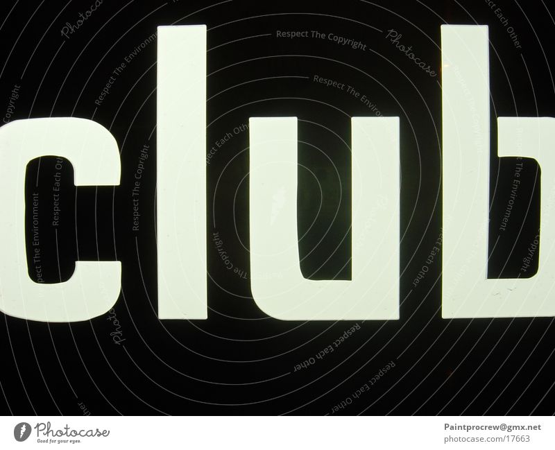 Leisure and hobbies Club Neon sign