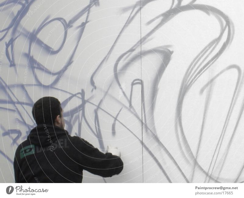 Human being Man Style Wall (barrier) Graffiti Photographic technology