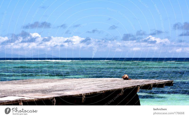 Dangerous Colour photo Exterior shot Deserted Vacation & Travel Tourism Far-off places Freedom Sun Sunbathing Beach Ocean Island Waves Sky Clouds Horizon