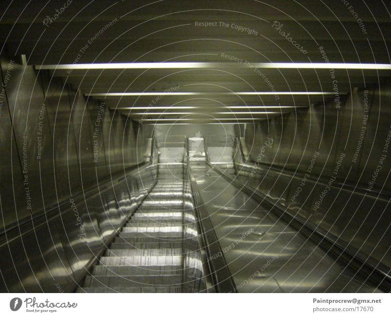 A journey into the unknown Escalator Paris Light Electrical equipment Technology Downward Stairs