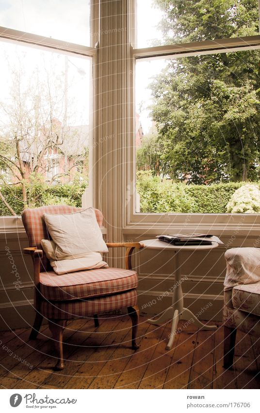 Old Calm House (Residential Structure) Relaxation Window Happy Furniture Warmth Contentment Wait Living or residing Retro Chair Soft Warm-heartedness Idyll