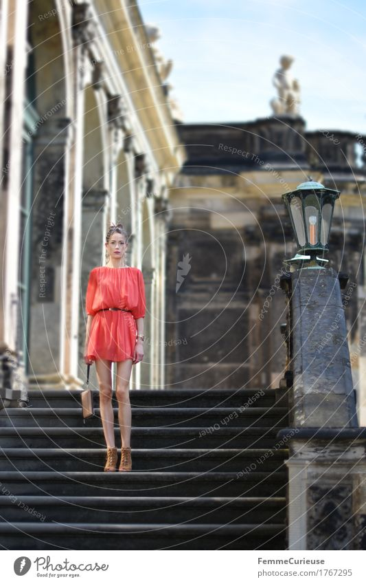 LadyInRed_1767295 Elegant Style Beautiful Young woman Youth (Young adults) Woman Adults Human being 18 - 30 years Esthetic Feminine Vertical Self-confident