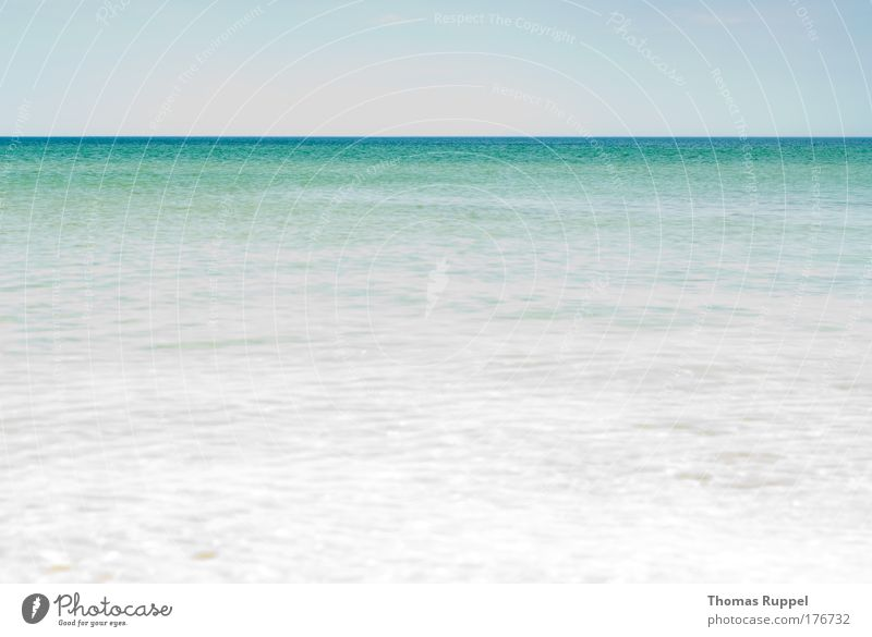 Lots of sea Colour photo Subdued colour Exterior shot Deserted Copy Space top Copy Space bottom Copy Space middle Day Sunlight Panorama (View) Summer Ocean