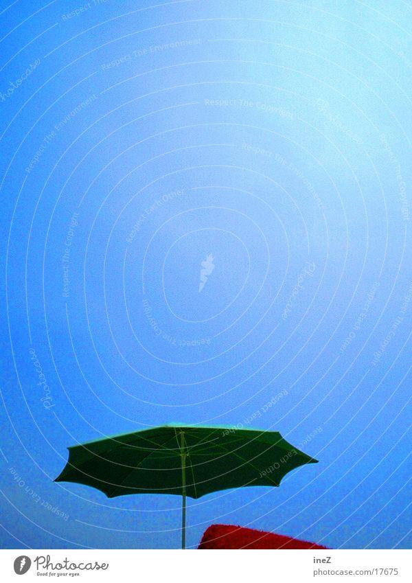sunshade Sunshade Beach Summer Portrait format Clouds Europe Blue Sky