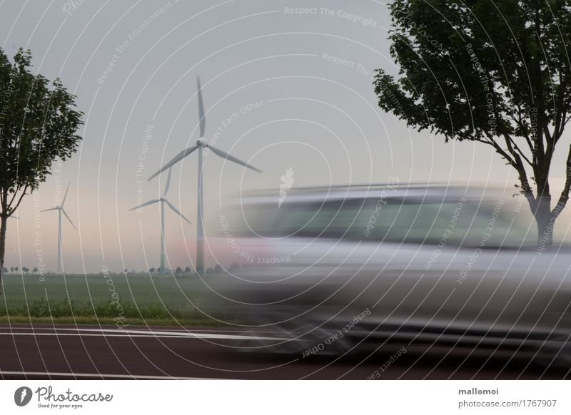 electric car Advancement Future Energy industry Renewable energy Wind energy plant Driving Vacation & Travel Sustainability Speed Mobility Logistics