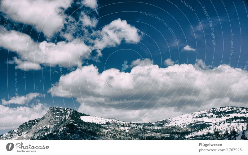 Sky Vacation & Travel Clouds Far-off places Winter Mountain Spring Snow Tourism Leisure and hobbies Snowfall Hiking Trip USA Adventure Skiing