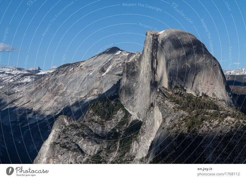Better half Vacation & Travel Adventure Far-off places Freedom Summer vacation Mountain Nature Landscape Cloudless sky Climate Climate change Rock Half Dome