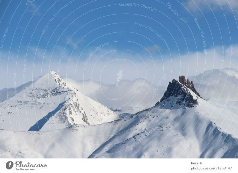 prominent mountain in Switzerland Relaxation Calm Leisure and hobbies Vacation & Travel Adventure Far-off places Freedom Winter Snow Winter vacation Mountain