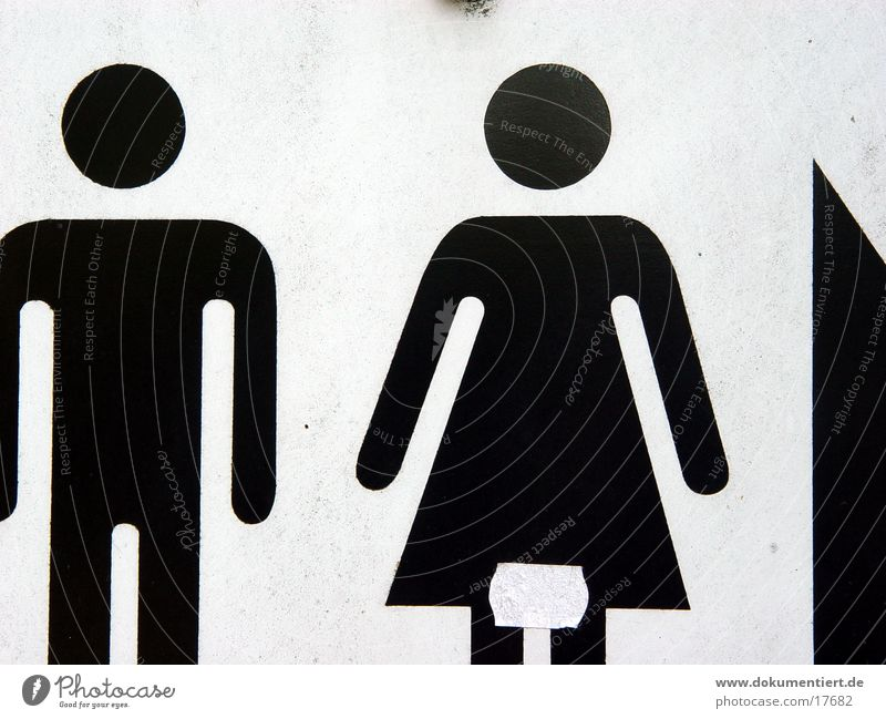 Woman Man White Black Street Signs and labeling Transport Pictogram