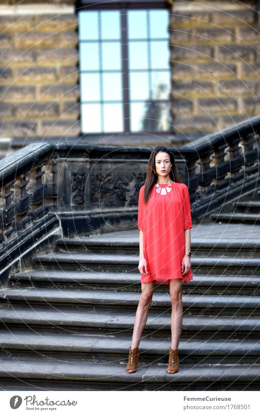 LadyInRed_1768501 Elegant Style Beautiful Young woman Youth (Young adults) Woman Adults Human being 18 - 30 years Esthetic Feminine Baroque Historic Buildings